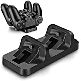 Concise Playstation 4 Charger Kit, Dual USB Charging Charger Dock Station Stand for PS4 Controller by ICESPRING