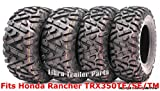 Set 4 WANDA ATV tires 24x8-12 & 25x11-10 00-06 Honda Rancher TRX350TE/SE/TM