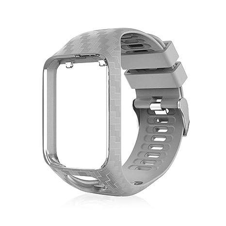 Volwco Bracelet Tomtom Adventurer Montre,Bracelet De Rechange en Silicone pour Tomtom Runner 2 /