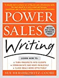 img - for Power Sales Writing by Sue A. Hershkowitz-Coore (2003-07-21) book / textbook / text book