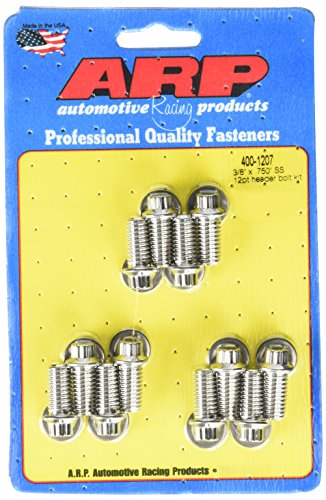- ARP 4001207 Stainless 300 12-Point Header Bolt Kit - Pack of 12