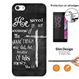 003470 - Bible Quote Cross Christian Design iphone SE 2016 / iphone 5 5S Fashion Trend CASE Ultra Slim Light Plastic 0.3MM All Edges Protection Case Cover-Clear