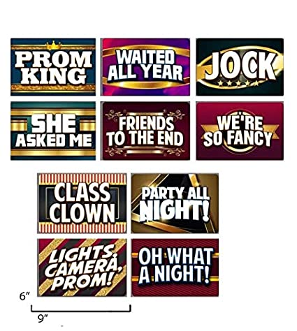 Amazon com: PROM PHOTO BOOTH SIGN PROPS  Set of 5 Double