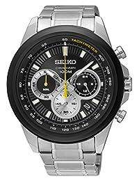 Seiko Men's SSB247 Stainless Steel Chronograph Wrist Watch