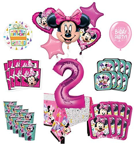 Mayflower Products Minnie Mouse 2nd Birthday Party Supplies