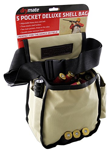 - Drymate DSB-WBB Deluxe Five Pocket Shotgun Shell Bag with Belt, One Size