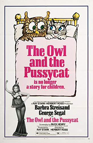 The Owl and the Pussycat 1971 Authentic Original Movie Poster Near Mint Barbra Streisand