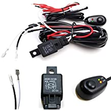 iJDMTOY (1) LED Light Wiring Harness w/LED Light Indicator On/Off Switch Relay Kit For LED Lightbar (Single Channel)