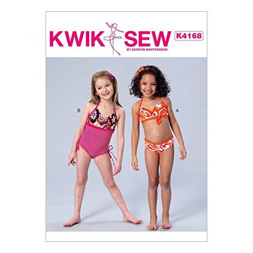 Kwik Sew Mädchen Schnittmuster 4168 Badeanzug & Bikini: Amazon.de ...