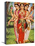 Art, Inc. Picture of Hindu Goddesses Parvati, Lakshmi and Saraswati, India, Asia by Godong, Stretched Canvas Print, 12x16 in