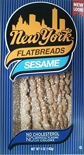 New York Flatbreads, Sesame, 5 Ounce (Pack of 12)