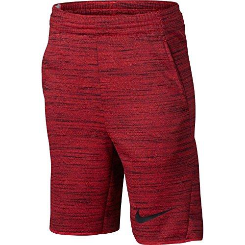 Nike Boys 8 Therma Basketball Shorts College Red (844317-657) / Nero / Università Rosso