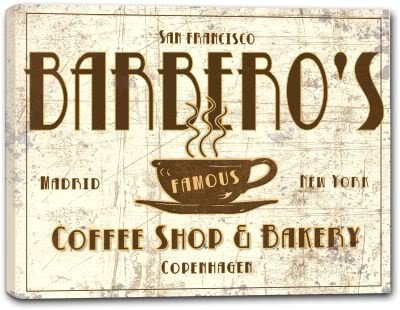 BARBERO'S Coffee Shop & Bakery Canvas Print 16