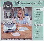 Sizzix 660950 Texture Boutique™ Máquina de Grabado en Relieve, Blanco con Gris, Sólo máquina, Blanco y Gris, 1