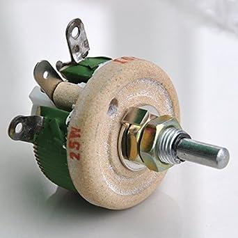 electronics salon 25w 100 ohm high power wirewound potentiometer rh amazon com Various Power Potentiometer 10K Potentiometer