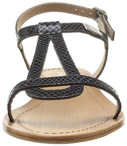 Cuero serpent Les Belarbi Noir Tropéziennes Sandalias noir Par M Negro Vestir De Hamat Mujer 81q8O