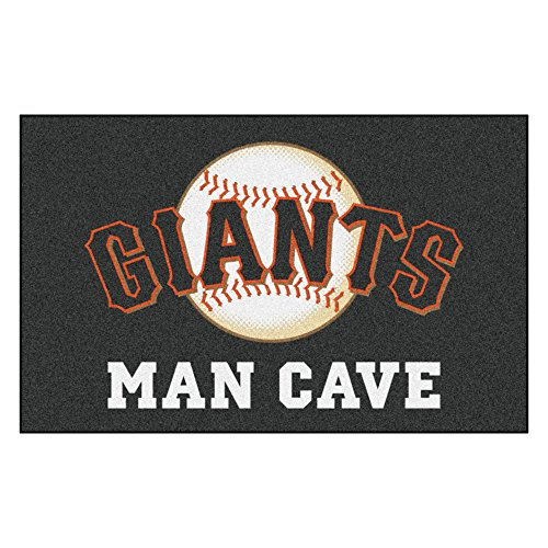 (MLB San Francisco Giants Man Cave Ultimate Rectangular Mat Area Rug)