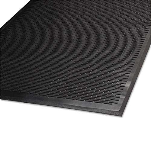 Guardian 14030500 Clean Step Outdoor Rubber Scraper Mat, Polypropylene, 36 x 60, Black