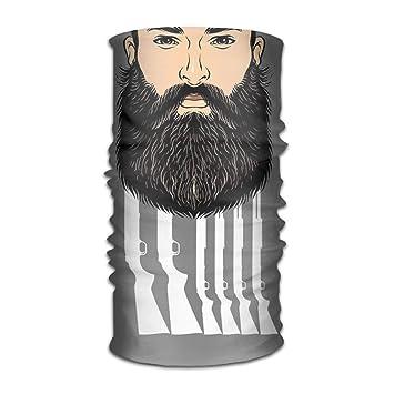 Nifdhkw Beard Series Headwear for Men and Women-Yoga Sports ...