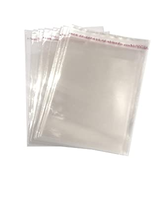 Amazon.com: 100 bolsas de regalo de plástico transparente ...