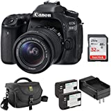 Canon EOS 80D DSLR Camera with 18-55mm Lens plus Pawa Dual LP-E6 Lithium-Ion Battery Pack Kit, DSLR Shoulder Bag and 32GB Memory Card