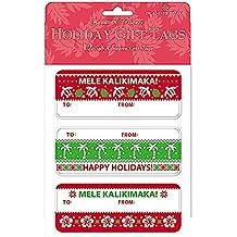 Island Ugly Sweater 12 Pack Adhesive Hawaiian Christmas Gift Tag Labels
