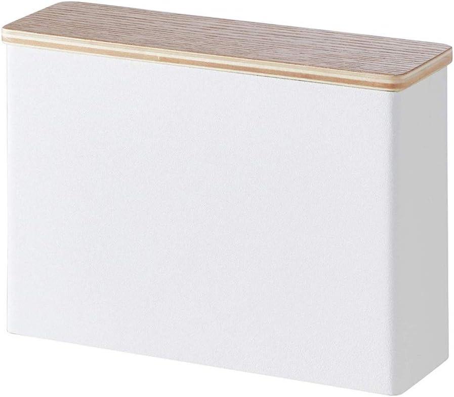コーヒー器具 ダストカバー家庭用コーヒーフィルターペーパー収納ボックスコーヒーフィルターペーパーホルダー付きハンドパンチコーヒーフィルターペーパーホルダー コーヒー用品 (Color : White, Size : 18.5x5.8x14cm)
