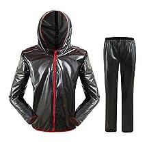 WANGQIANG Men Waterproof Cycling Raincoat Poncho Pants Women Outdoor Rain Suit