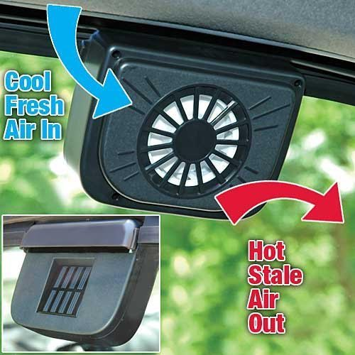 Autocool Solar Power Car Fan, Black,