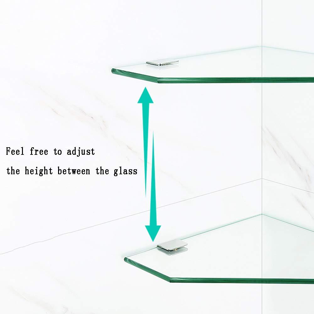 9.4 ZXQ Tablette en Verre Support dangle pour Salle De Bain Support De Douche Mural Couleur : 1-Layer, Taille : 24cm//9.4 11  Salle de Bains /étag/ère en Verre