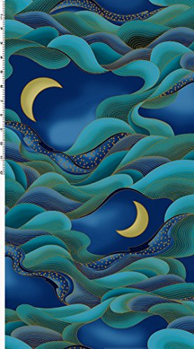 Moon Cotton Quilt Fabric - 4