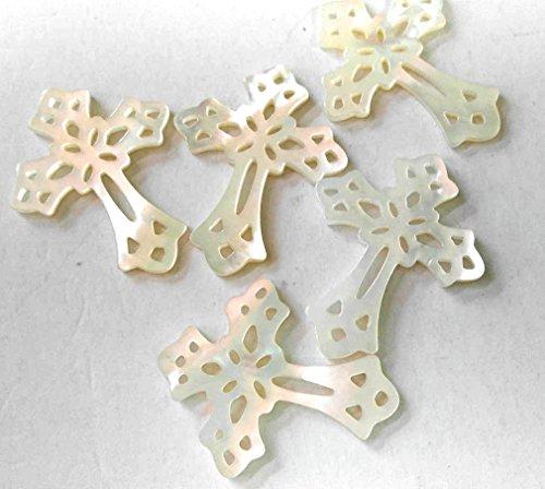 20pcs 15-30mm mop shell beads jewelry Mop shell Cross diamond drop peace mixed Filigree Pendants