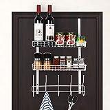 Over The Door 5 Hook Shelf Organizer Hanger Spice