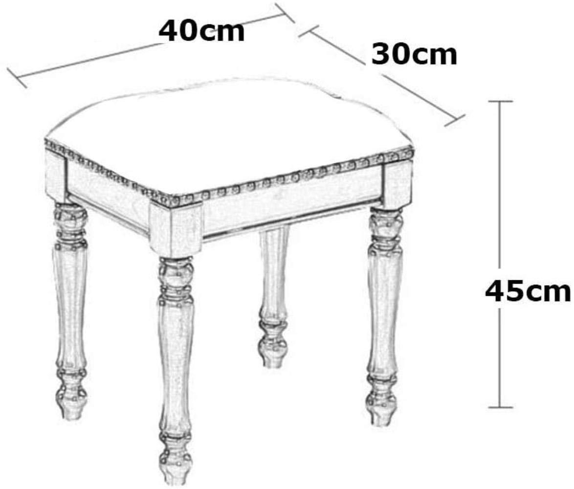 Klädbordspall, stoppad massiv träsminkpall soffpall läderfotstöd för kontor hem stol Mörkbrunt