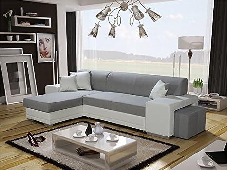 Verani Doble Moderno Gris Grande Esquina sofá Cama con ...