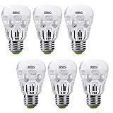 SANSI 40 watt Light Bulbs 5w LED Bulb Equivalent 40w Incandescent Bulb Daylight 5000k Cool White A15 LED Bulb E26 Base 500 Lumen Non-dimmable Energy Saving Bulb for Fans Lamps 5-Year Warranty (6-Pack)