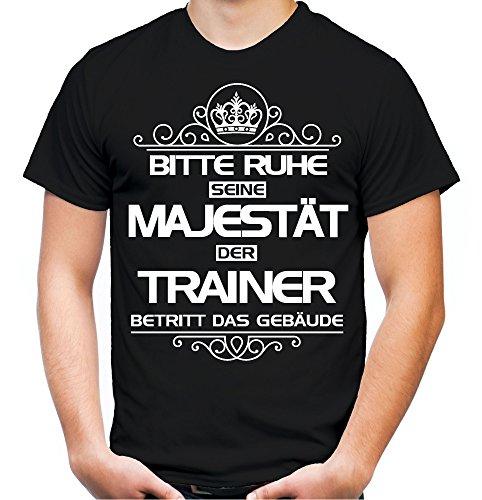 Bitte Ruhe seine Majestät der Trainer T-Shirt | Beruf | Arbeit | Sport | Sprüche | Fussball | Lehrer | Männer | Herren | Fun
