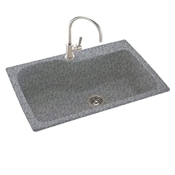 Swanstone KSSB 3322.042 33 Inch By 22 Inch Large Single Bowl Kitchen Sink