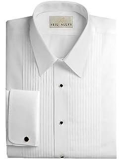 Neil Allyn Mens Tuxedo Shirt - 100% Cotton Laydown Collar(15 - 36/