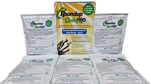 (Roundup Quikpro Weed Killer Herbicide 73.3% 1 Packet Per Gallon, 5 Packs)