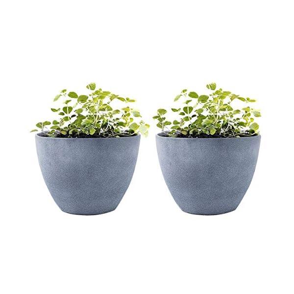 Flower Pot Garden Planters 12 2 Pack Outdoor Indoor