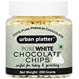 Urban Platter Pure White Chocolate Chips 200 Grams