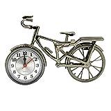 Novelty Vintage DIY Bicycle Alarm Clock Table Desk Students Time Clock