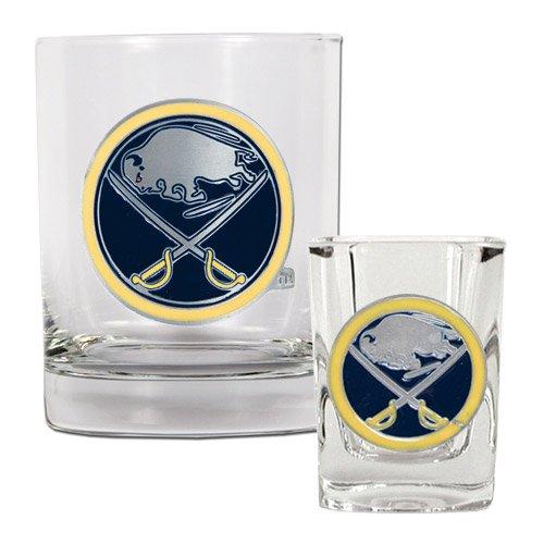 NHL Buffalo Sabres Rocks Glass & Square Shot Glass Set