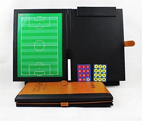 AGPTek® Professional Fußball Coach-Board Taktikmappe Coach-Mappe mit Stifte, Radiergummi, Magneten