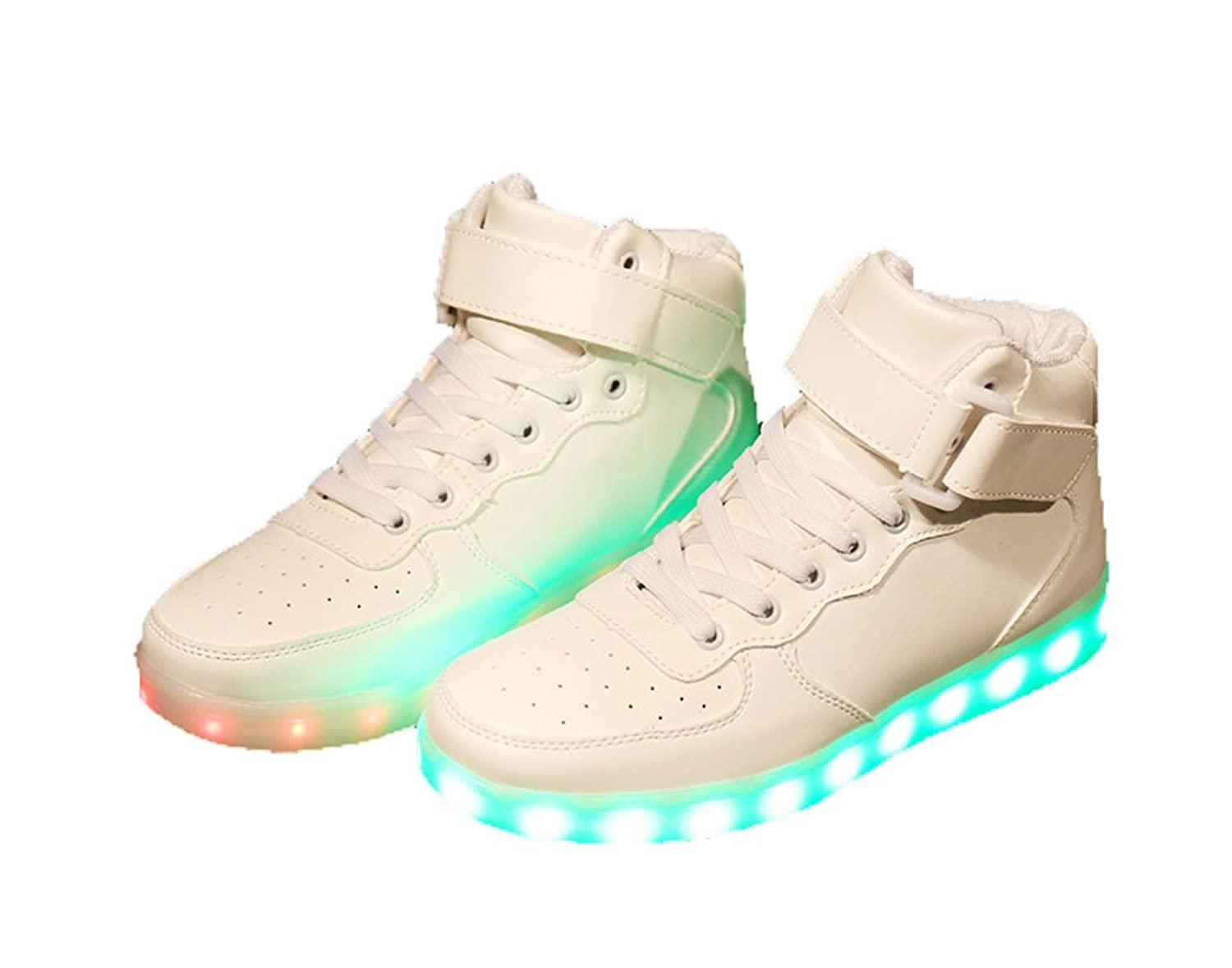905703e9f3 Janeyer Unisex's PU 7 color Charging Flashing Sneakers Breathable Light Up  Shoes delicate