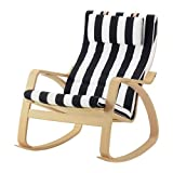 Ikea Rocking chair, birch veneer, Stenli black/white 12204.26511.2214