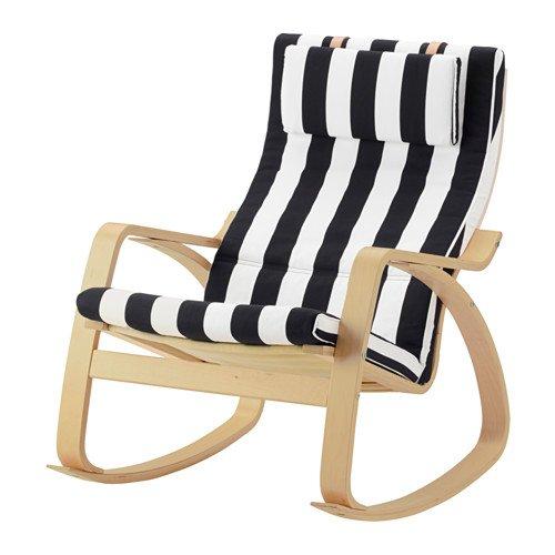 Ikea Rocking chair, birch veneer, Stenli black/white 12204.26511.2214 by IKEA