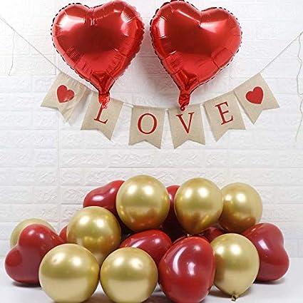 30Pcs LOVE HEART SHAPE BALLOONS Wedding Party Romantic heart shape ballon Party