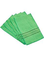 Okuna Outpost Korean Style Exfoliating Towels, Green Facial Wash Cloths (5 x 8 in, 20 Pack)